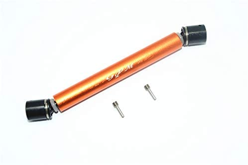 GPM LOSI-1/10 Baja Rey Desert Truck LOS03008,1/10 Rock Rey Aluminum & Steel Rear CVD Drive Shaft -3PC Set (Orange)