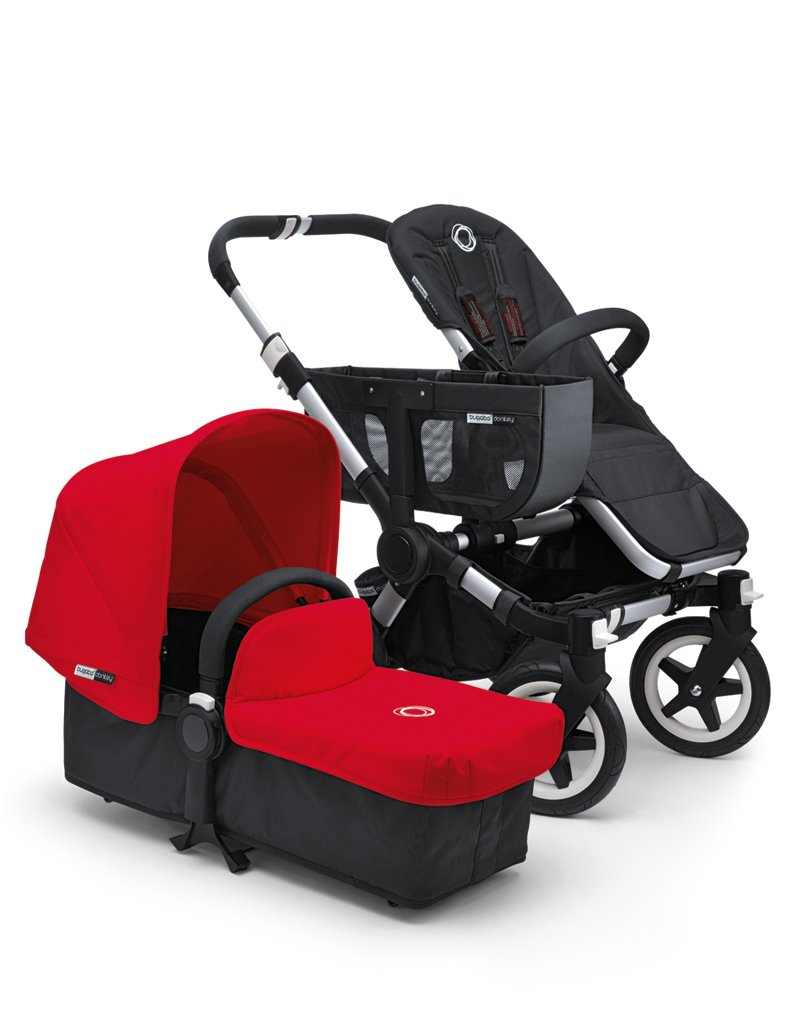 Bugaboo Donkey Tailored Fabric Set, Red (Discontinued by Manufacturer) (Discontinued by Manufacturer)