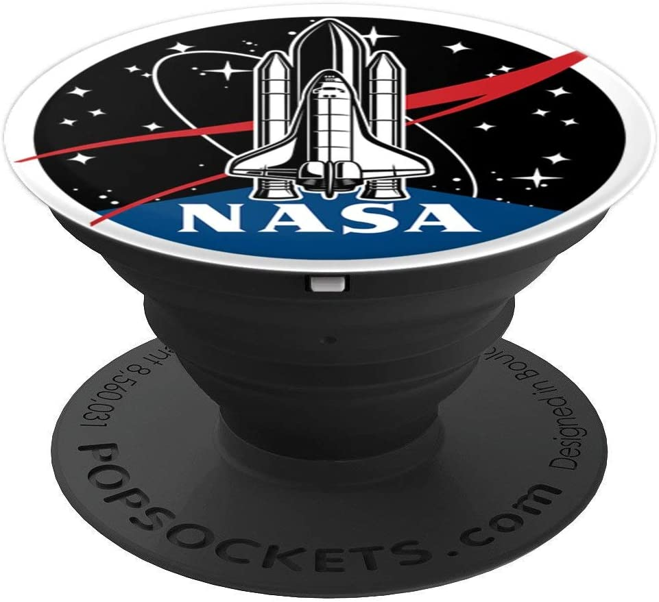 NASA Shuttle Launch With Logo and Stars PopSockets Grip and Stand for Phones and Tablets