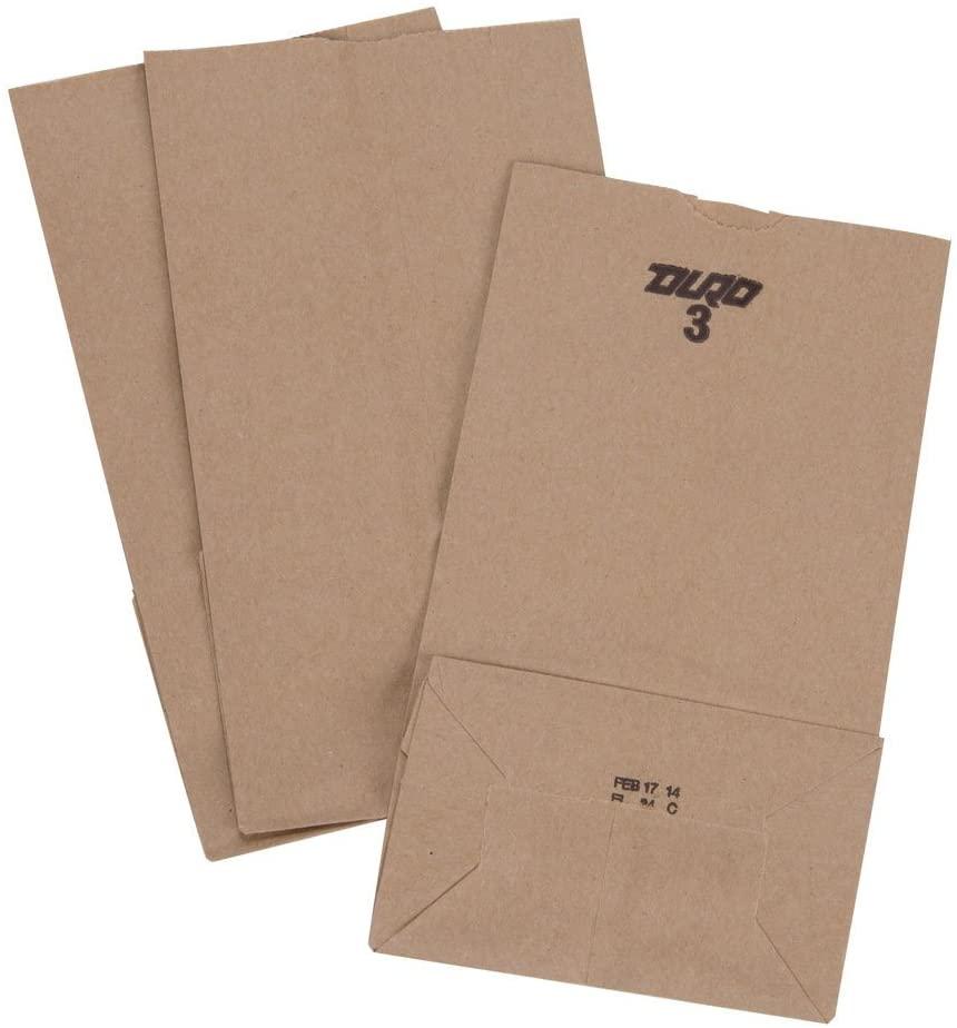 Paper Shopping Bags, 4000pcs, 3 Brown/kraft Paper Bag, 3.1 Cents Per Bag, 127.00 per bundle.
