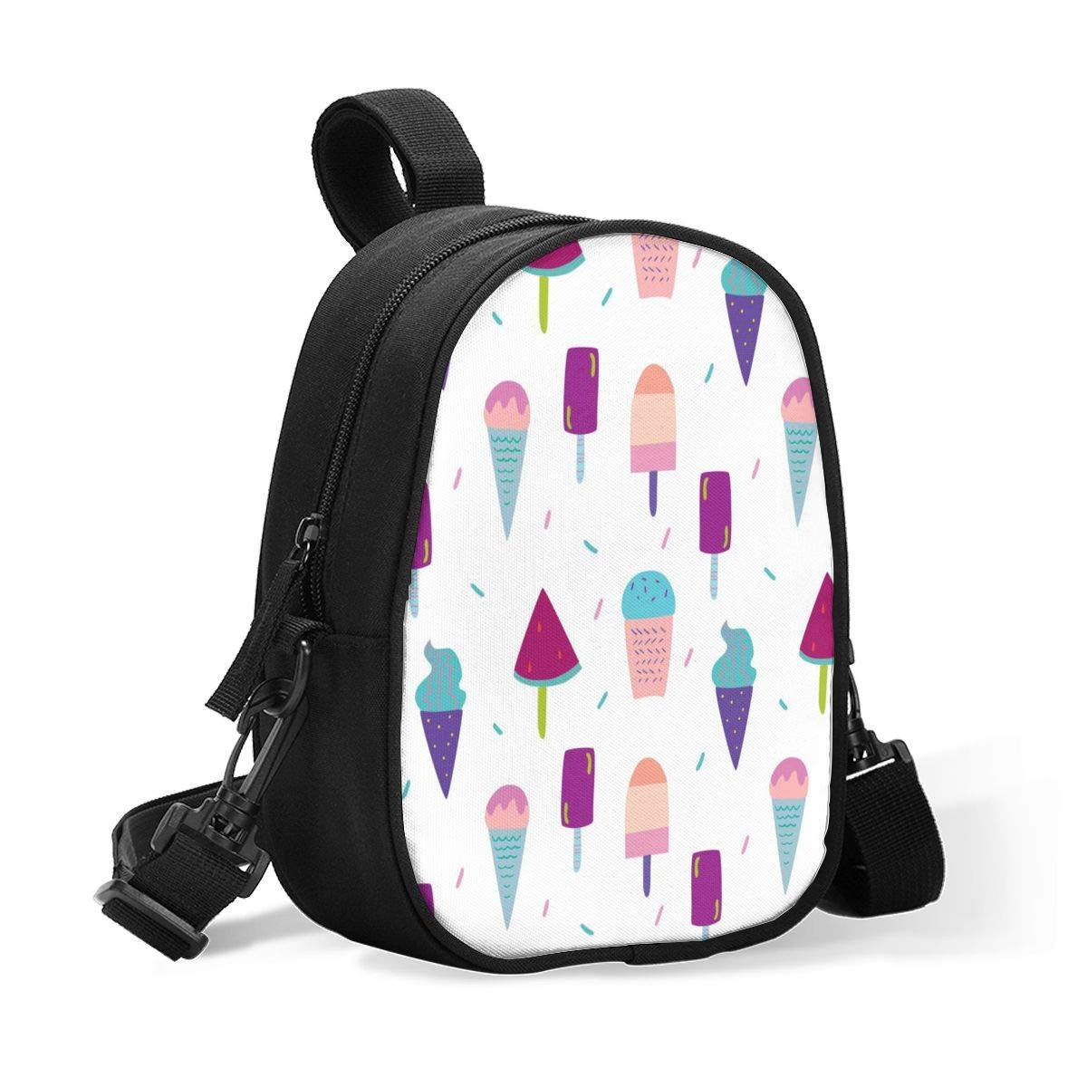 Insulated Baby Bottle Tote Bags for Travel Double Baby Bottle Warmer Cool Cartoon Cute Ice Cream Popsicle Multicolor Breastmilk Baby Bottle Cooler & Travel Bag,Easily Attaches to Stroller Diaper Bag