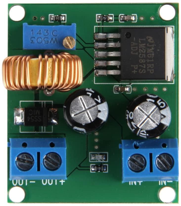 minansostey DC-DC Pulse Step Up Power Module Adjustable Voltage 3 5 12 V to 19 24 30 36 V