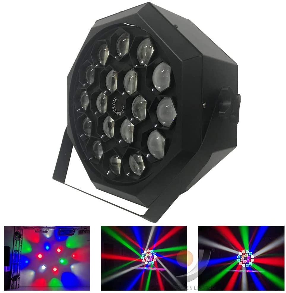 18x10W RGBW 4in1 Quad DMX Rotate Lens LED Par Light Disco Flower Effect DJ Party Club Event Fixture (RGBW 4in1 LED)