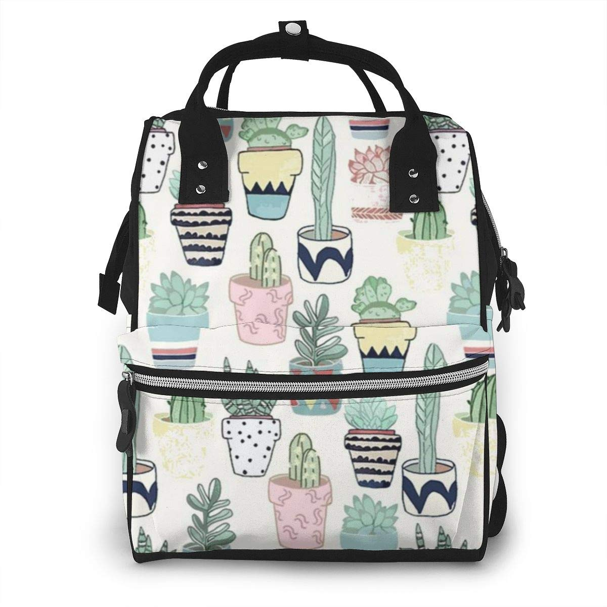 Diaper Bag Potted Plants Backpack,Back Pack Multi-Functional Waterproof Travel Maternity Baby Changing Bags Nappy Baby Care for Mom Dad