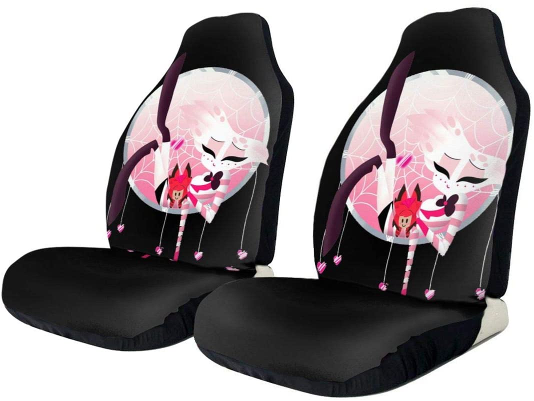 Hazbin Hotel Stylish and Comfortable Car Seat Cover, Car Seat Cover, Front and Rear, Flat-Type Universal Car Seat Cover