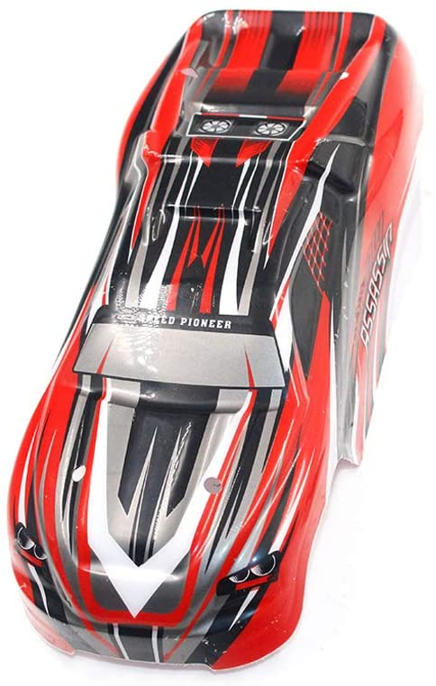 Parts & Accessories Red 1:18 Plastic P1612 9505 Chassis Hard Body Shell Upgrade Hard Body Shell RC Accessory for RC Car Truck Parts