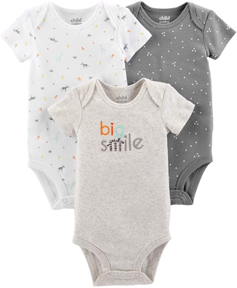 Carter's Child of Mine Baby Unisex Bodysuit 3-Pack (Preemie)