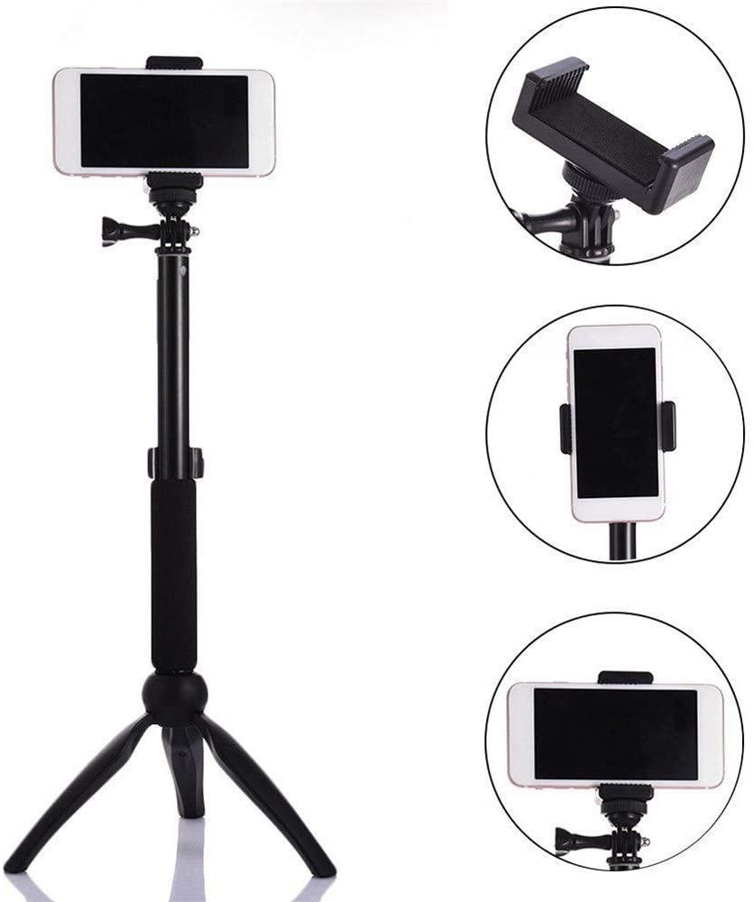 PUEEPDEE Selfie Stick Tripod Selfie Stick Bluetooth Selfie Stick Aluminum Selfie Stick Mobile Phone Holder Mini Pocket Selfie Stick Suitable for Phone Lightweight Extendable Selfie Stick