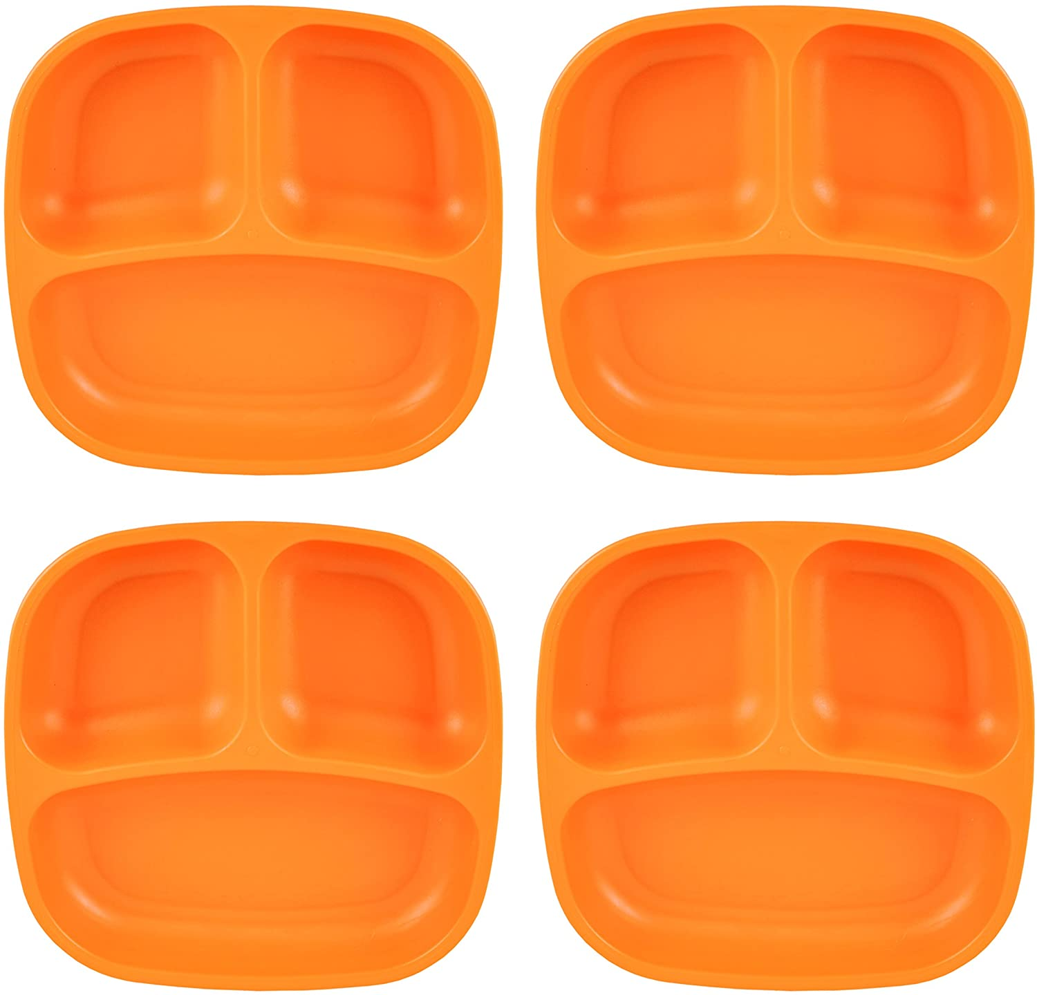 Re-Play Recycled Products Small Divided Plates, Set of 4 (7.375
