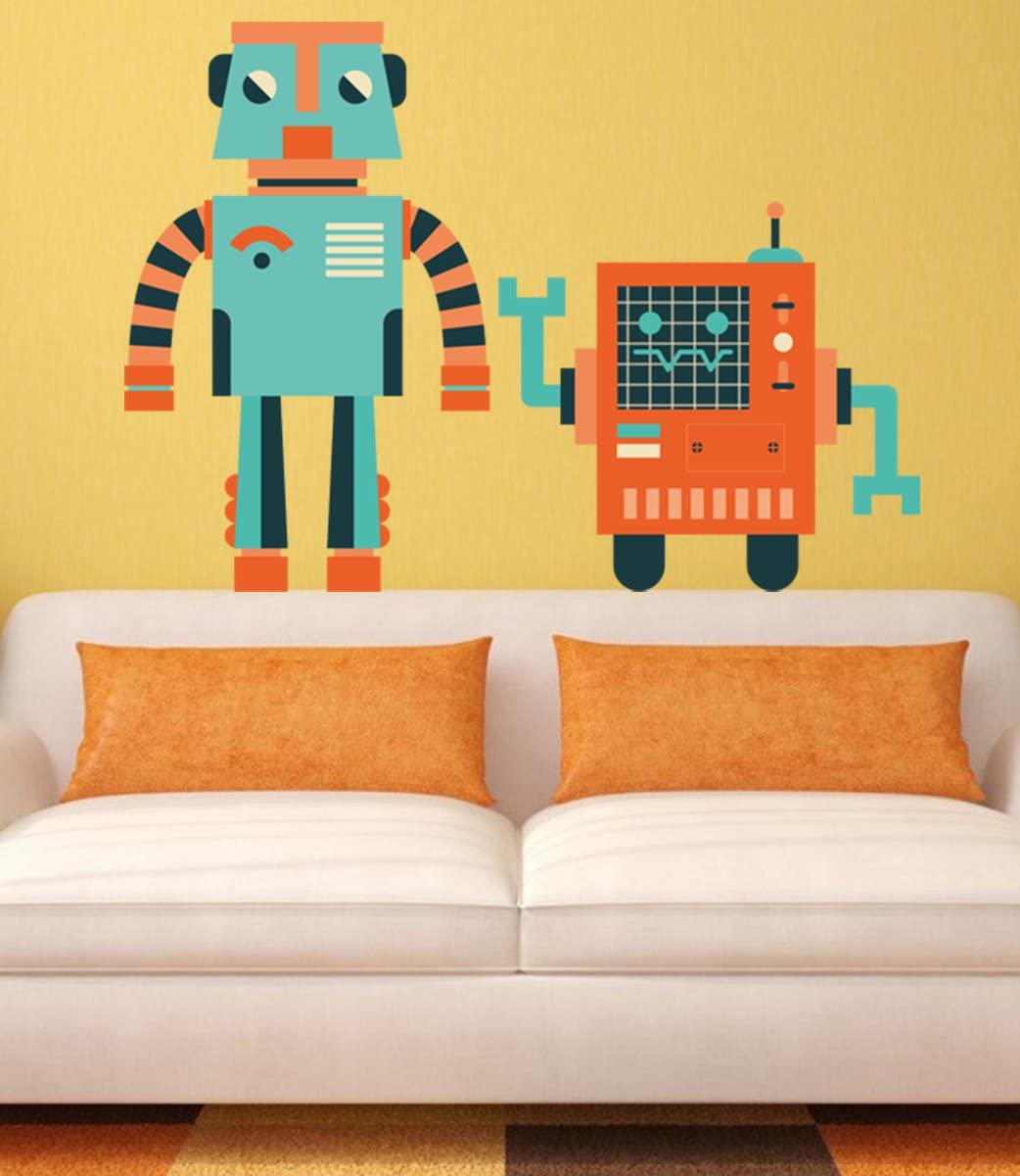 STICKERSFORLIFE ced727 Full Color Wall Decal Sticker for a boy Robot Bedroom Children's Room