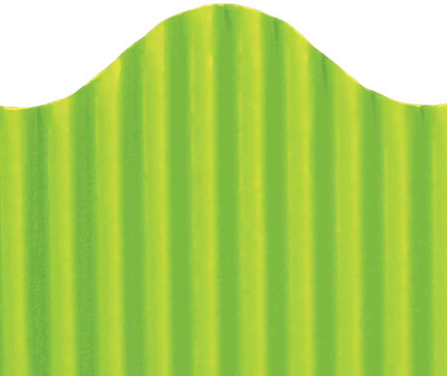 Top Notch Teacher Products Corrugated Border, Lime, 2 1/4
