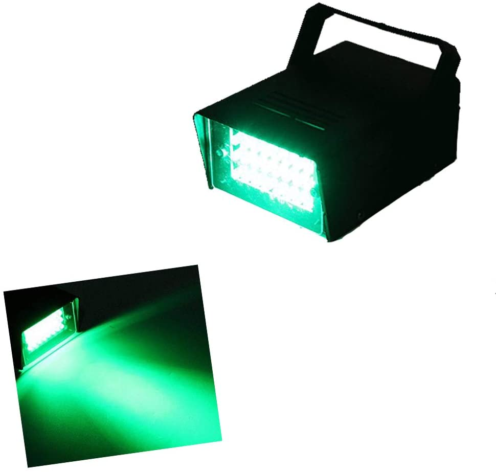 Led Green Strobe Lights Adjustable Speed Control Stage Light Dance Strobe Lights with Super Bright 24 LEDs Flash Party Lighting Best for Christmas Clubs Effect DJ Disco Bars Parties Halloween