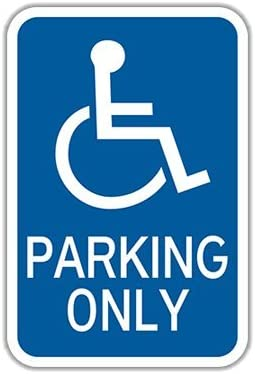 FixtureDisplays 6PK of HR7-128 Handicapped Parking Only 12 x 18 Engineer Grade Parking Signs 101811-6PK!