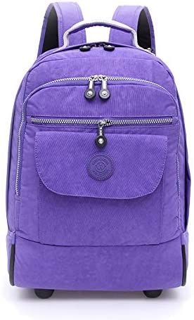 Wheeled Laptop Backpack, Great for High School, College Backpack, Rolling School Bag, Business Backpack,Purple