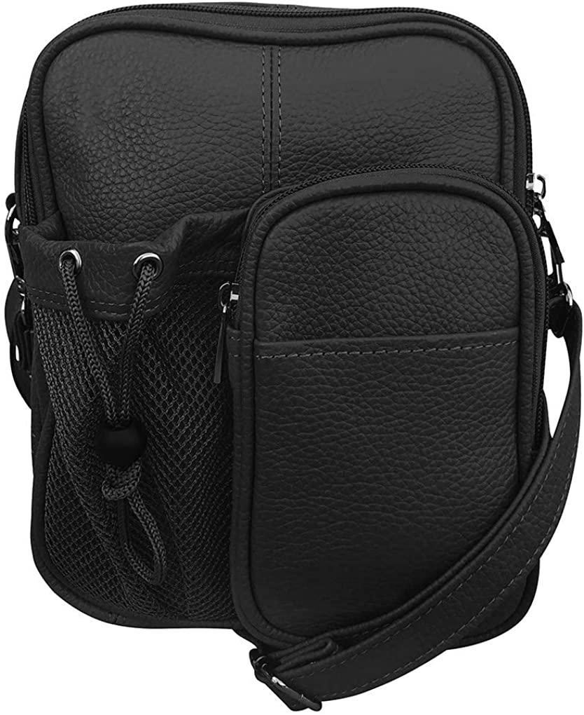 Genuine Leather Travel Mens Organizer Handbag By Silver Fever