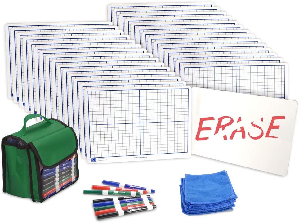 EAI Education X-Y Coordinate Grid Dry-Erase Boards: 9