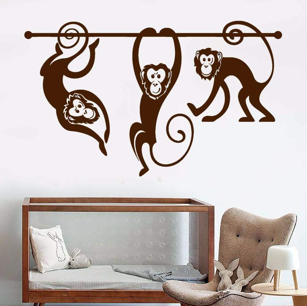 Vinyl Wall Decals Monkey Animal Zoo Children's Room Kids Room Stickers
