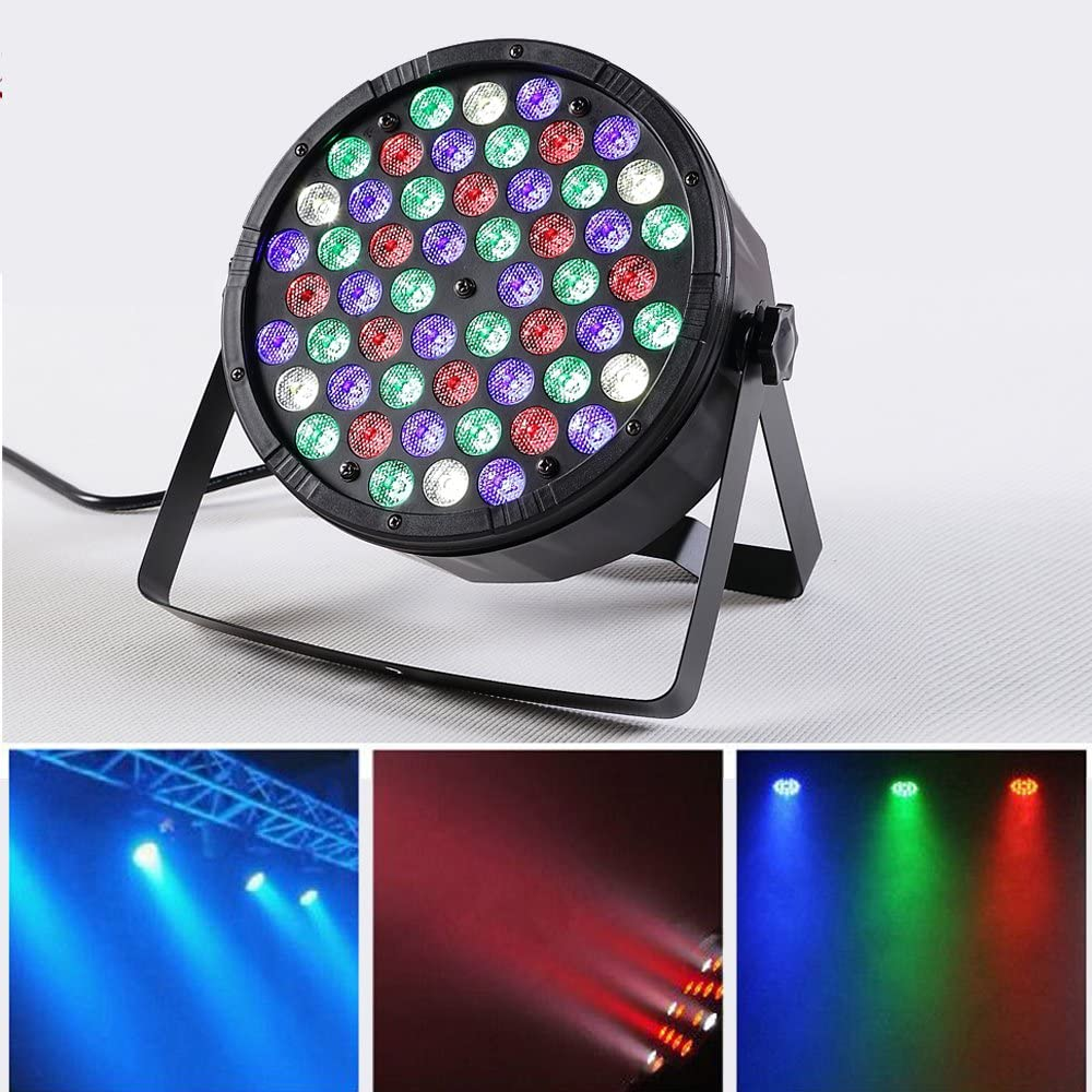 54LEDs Super Bright RGBW Party Lights Stage Effect DJ Lighting, INVENBER Par Light  Auto Runing Sound Activated Stage Home Holiday Party Supplies