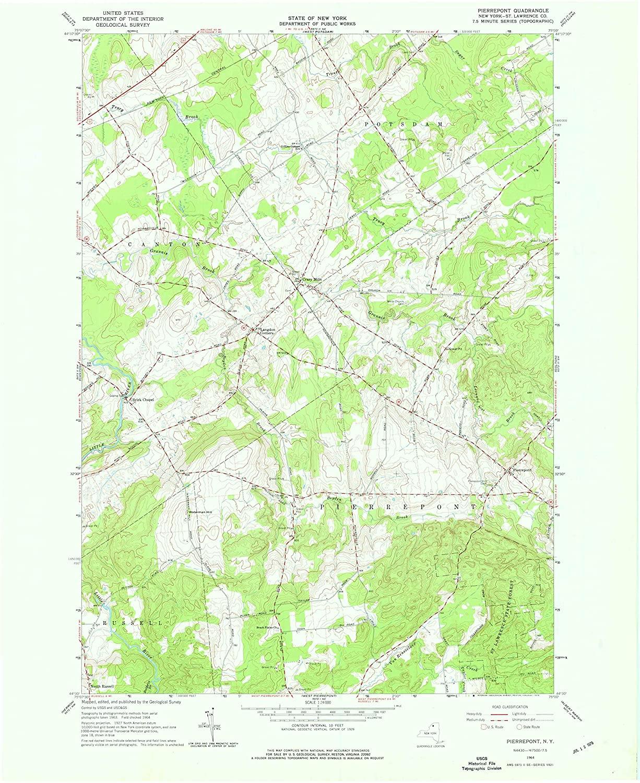 Map Print - Pierrepont, New York (1964), 1:24000 Scale - 24