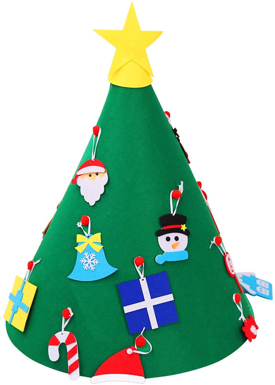 CELT 3D DIY Felt Christmas Tree, Upgraded Toddler Christmas Tree for Kids Xmas Decoration