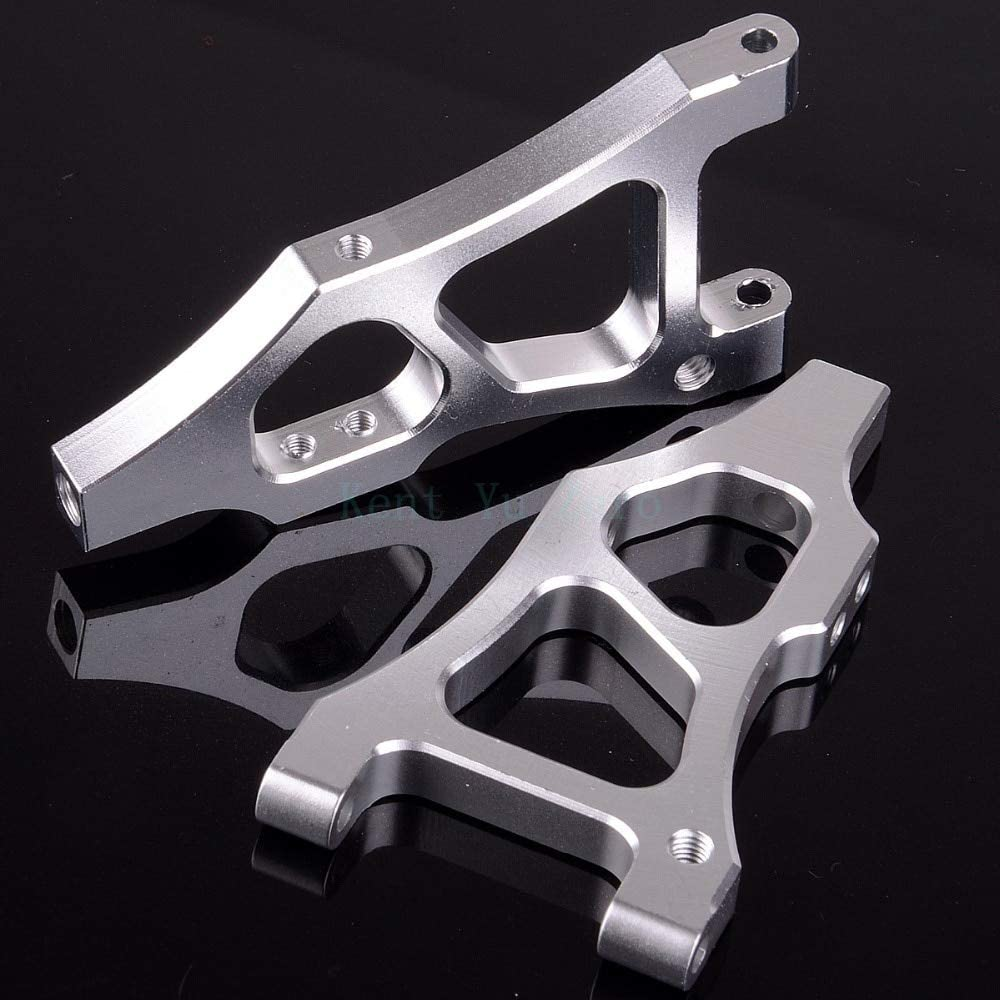 Parts & Accessories Front Lower Suspension Arm 06052/06040 Upgrade Parts 166019 Silver for 1/10 RC Car HSP Redcat Himoto