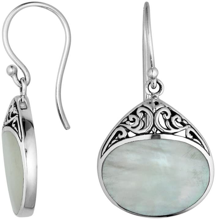Bali Designs Sterling Silver Earring with Mother of Pearl AE-6197-MOP