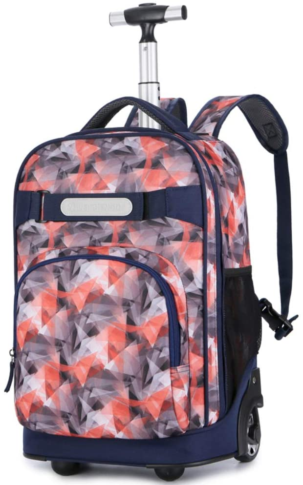 Wheeled Laptop Backpack, Great for High School, College Backpack, Rolling School Bag, Business Backpack,A