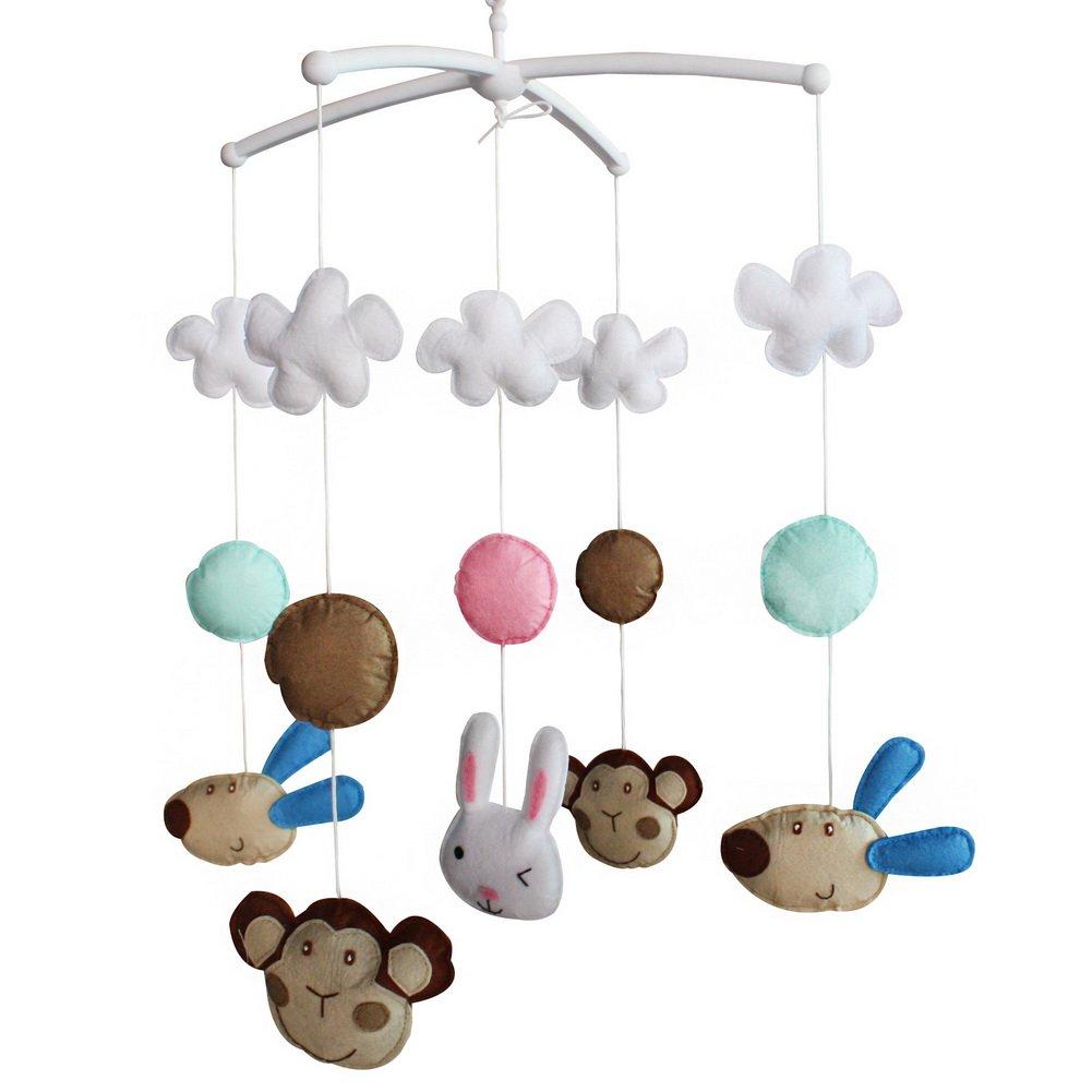 Baby Toys Nursery Decor Funny Newborn Crib Bell Random Music Box (Mozart Lullaby or Brahms Lullaby)-E40