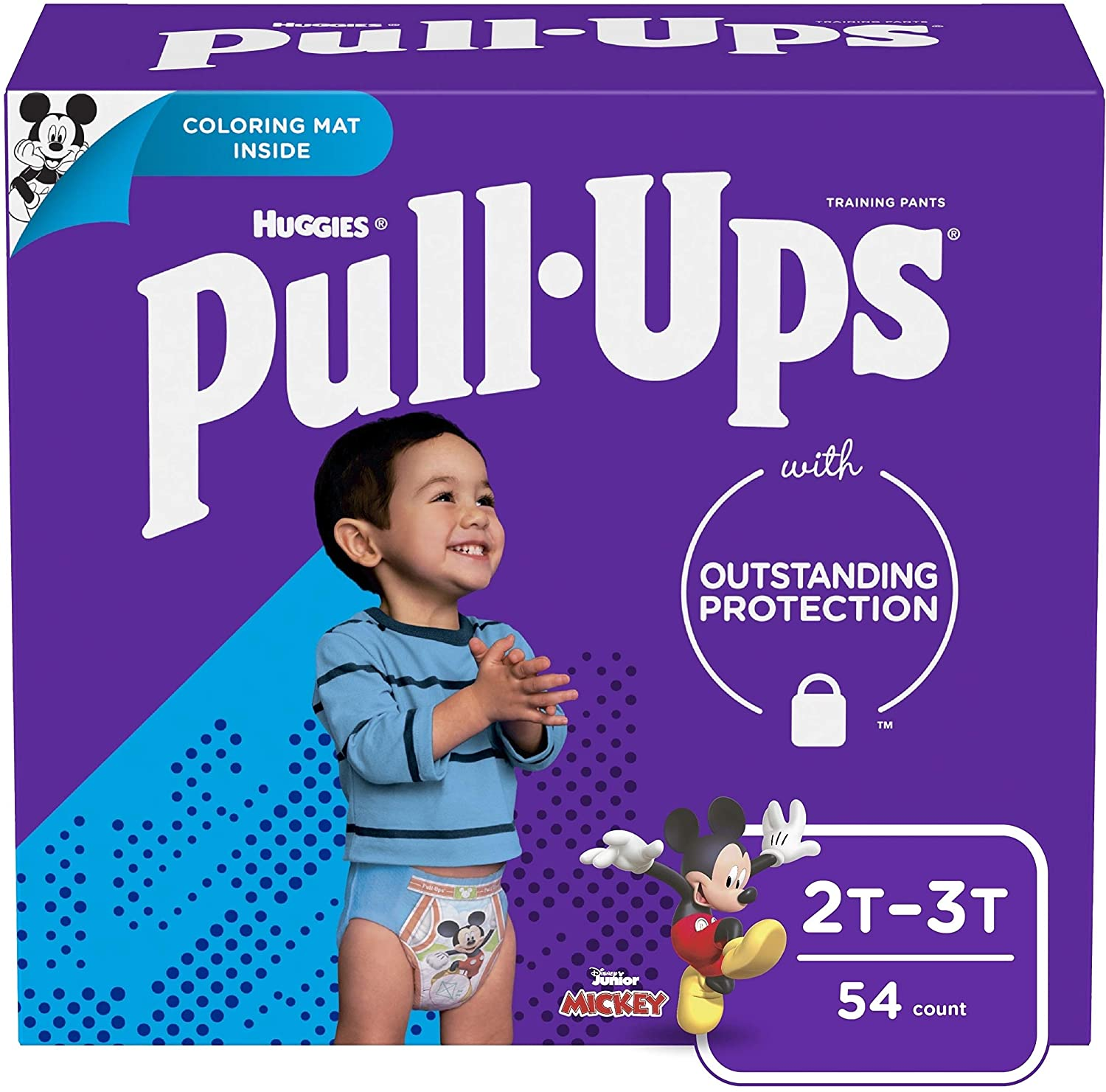 Pull-Ups Learning Designs Potty Training Pants for Boys, 2T-3T (18-34 lb.), 54 Ct. (Packaging May Vary)