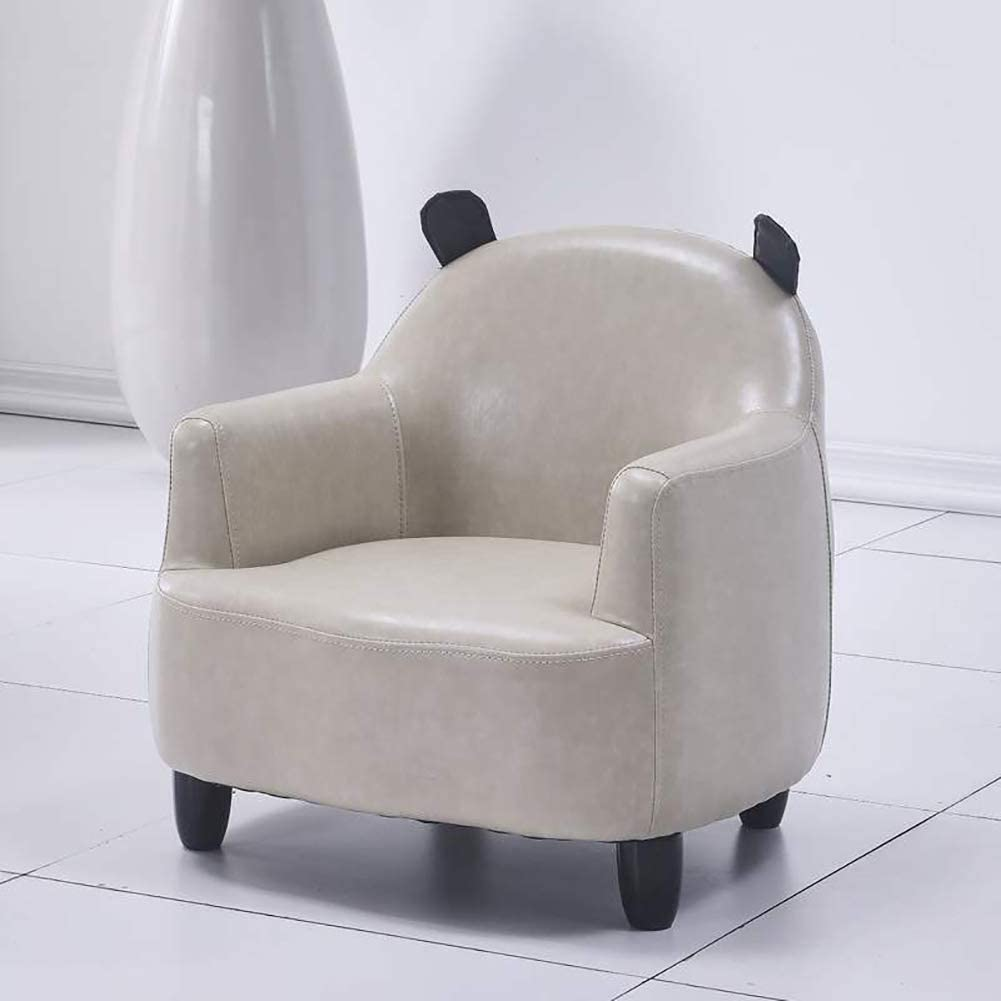 D&LE Kids Sofa Armchairs,Children Leather Sofa Seat Wood Frame Children Sofa Single Sofa Perfect for Childs Bedroom Playroom Gray 51x52x54cm(20.1x20.5x21.3inch)