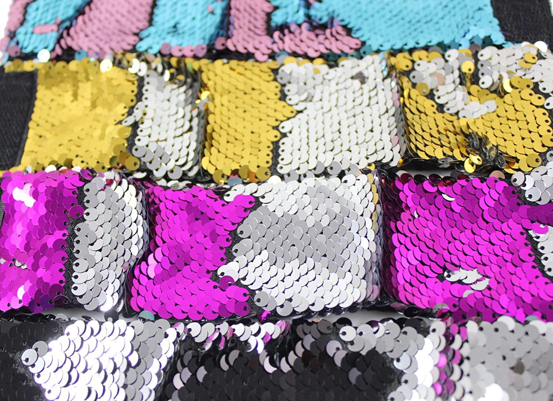 Curious Minds Busy Bags Bulk - 12 Bracelets with Mermaid 2-Color Reversible Sequins Sensory Fidget Jewelry Toy