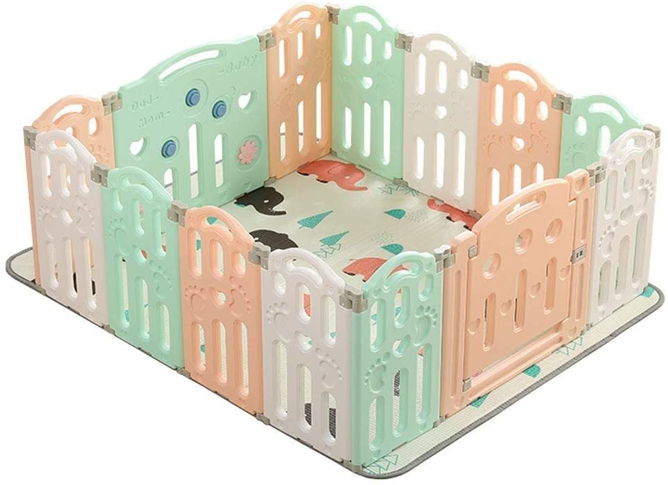 HWZQHJY Baby Playpen- Safe Play Bed - Environmental - Easy to Clean - Suitable for Children Aged 0-6 (Size : 14 Pieces)