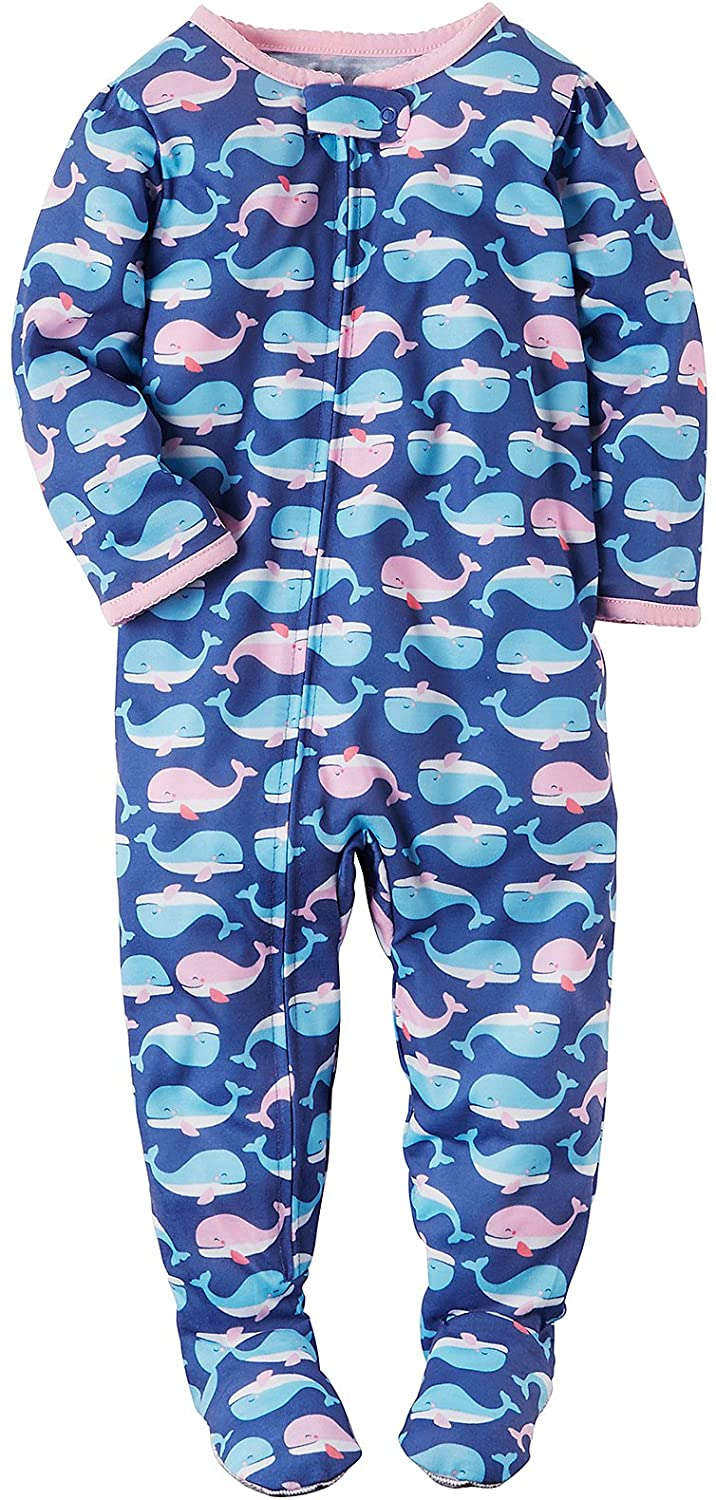 Carter's Girls' Whale Printed Footie