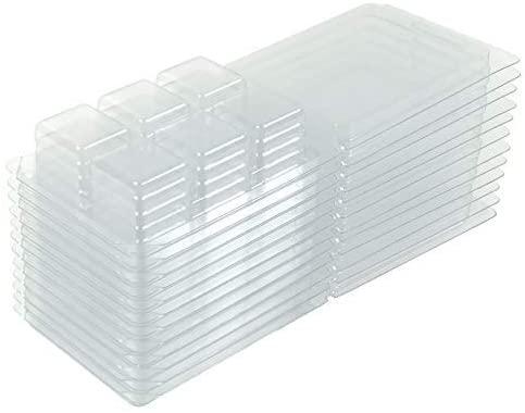 Premium Wax Melt Clamshells Mold (25 Square Molds)