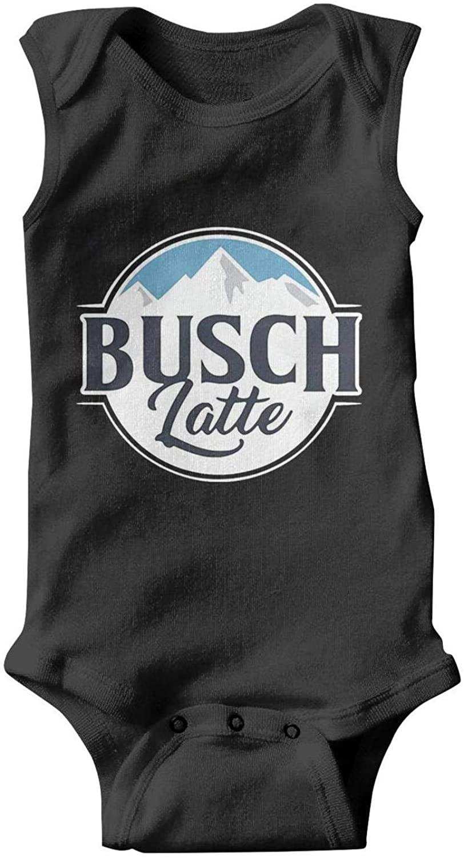 Just Hiker Kids Sleeveless Busch-Light-Busch-Latte-Beer- Summer Onesie for Cute Newborn Baby