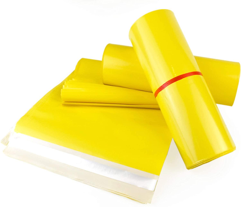 Silipac Mailer Shipping Envelopes 100 Pack - 10X13 Tear-Proof Postal Bags | Waterproof Poly Envelope Plastic Custom Mailing Bag Set - Self Sealing (Yellow)