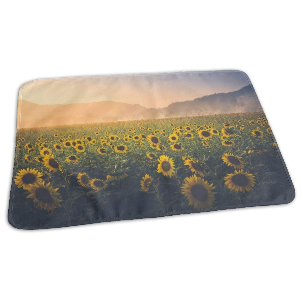 ZZguowuque Portable Changing Pad -Reusable Waterproof Baby Changing Pad(9.457.09 Inch) Sunflower in Dreamland