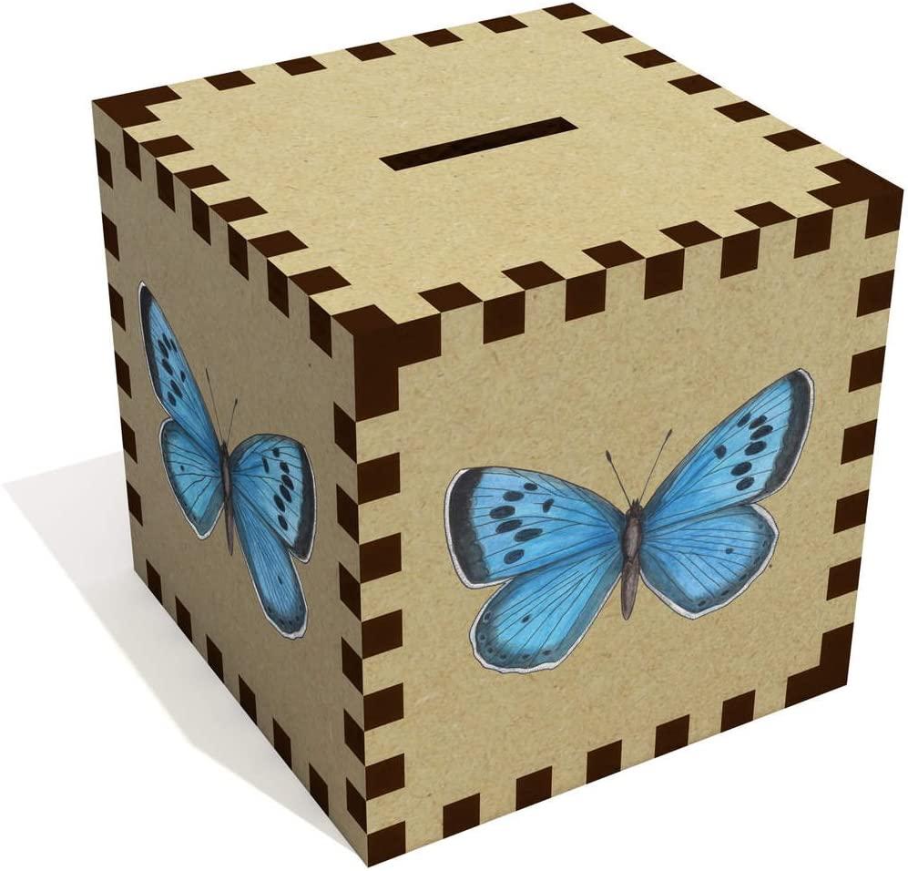 Azeeda 'Blue Butterfly' Money Box / Piggy Bank (MB00066511)