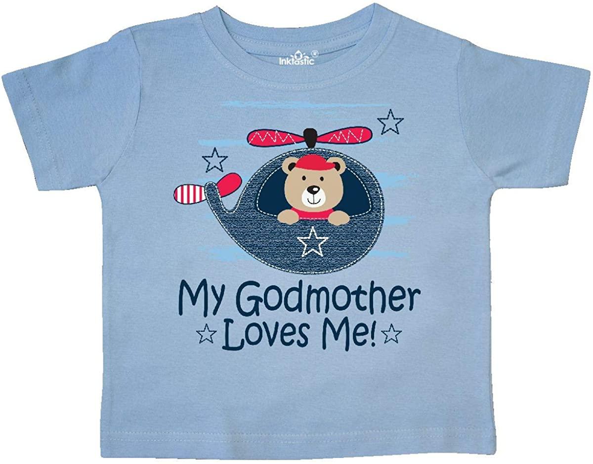 inktastic My Godmother Loves Me Boys Toddler T-Shirt