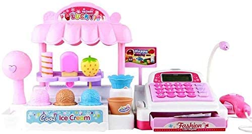 Plastic Children Cash Register Kids Educational Toys Kids Educational Simulation Supermarket Ice Cream Shop Girl Toy Set