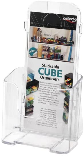Deflecto Literature Holder - Clear