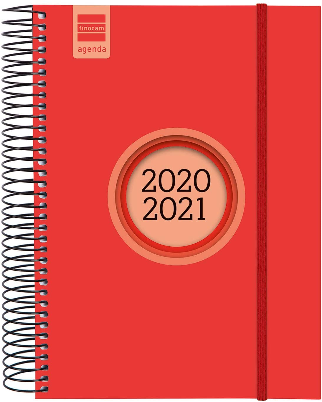 Finocam - Agenda Course 2020-2021 E10-155x212 1 Day Page Spy Label Red Spanish