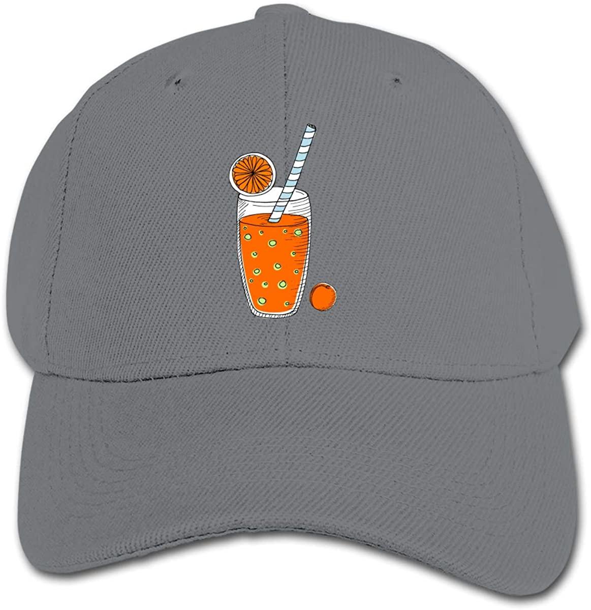 Orange Juice Kid's Daily Sun Protection,Casual, Baseball Cap, Adjustable Cartoon Hat Cap
