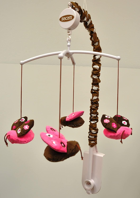 Bacati - Lady Bugs Pink Chocolate Mobile