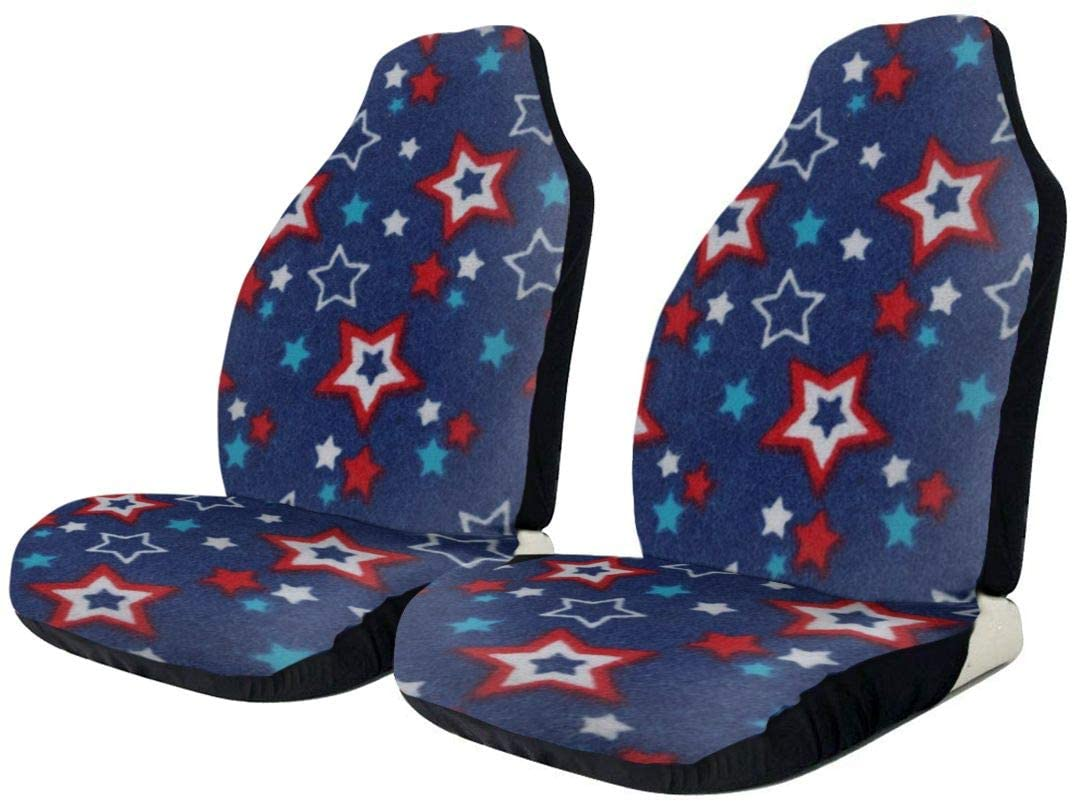 KLQ Independence Day Stars Car Seat Cover Saddle Blanket Seat Pad Protectors