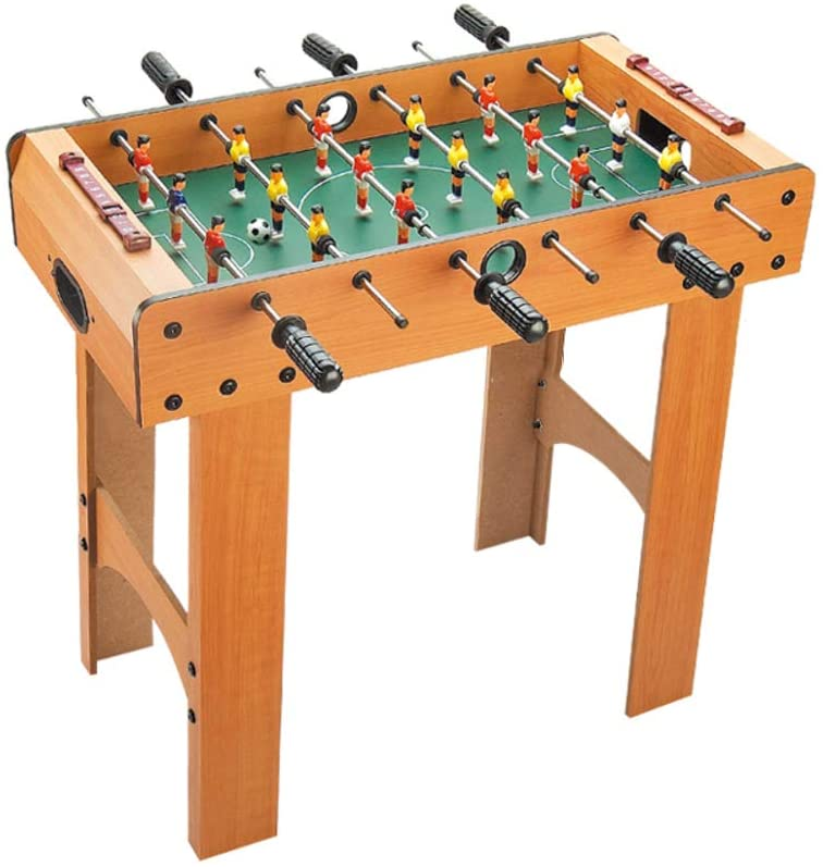 TriGold Mini Foosball Game Wooden Table,Portable Football Table for Home Party Recreational,Fun Tabletop Soccer Game for Kids and Adults