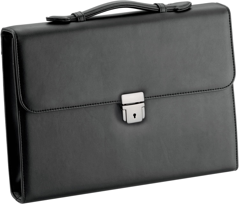D&N Briefcase, Black (Schwarz), 36 centimeters
