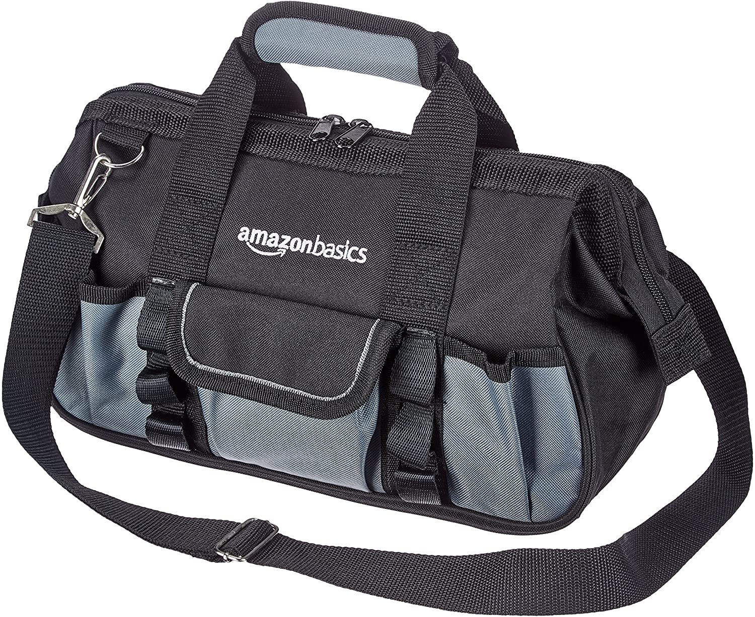 DHgateBasics Durable, Wear-Resistant Base, Tool Bag with Strap, Small (12 Inch)