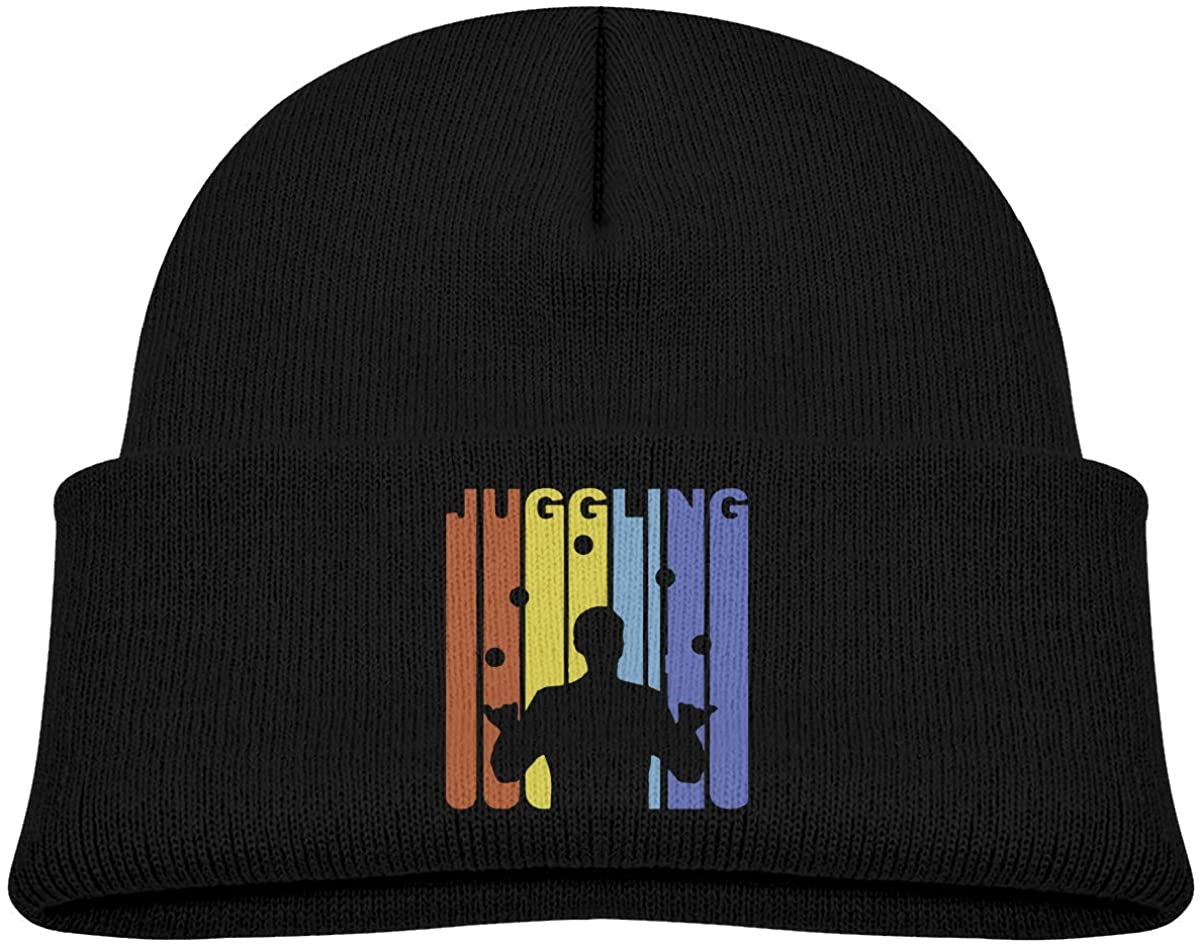 Toddler's Beanie Vintage Juggling Graphic Cuffed Knit Hat Skull Cap