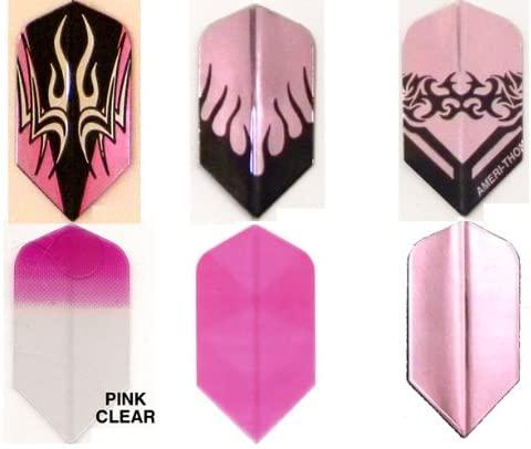 #6033 Pink Dart Matching Slim Shape AmeriThon Six Pack Flight Assortment